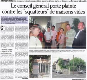 Dauphiné Libéré du 24 août 2011